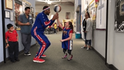 Meeting the Harlem Globetrotters image