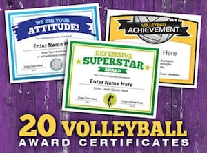 elite volleyball certificates image