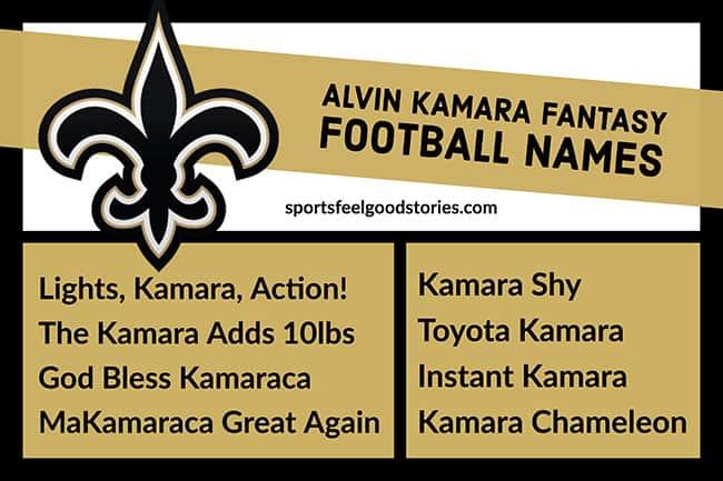 Alvin Kamara Fantasy Football Names image