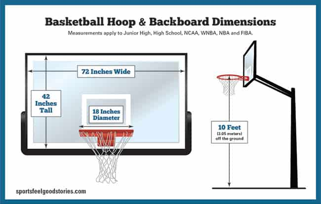 basketball rim height image