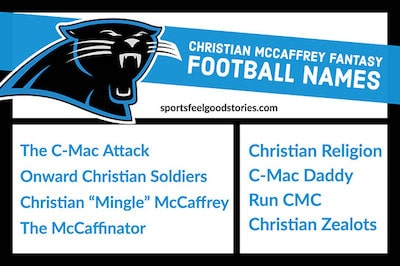 Christian McCaffery fantasy football naming ideas image