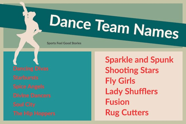 Fun Dance Team Names for your Group | Sports Feel Good Stories