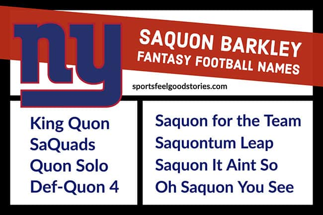 Saquon Barkley Fantasy Football names image