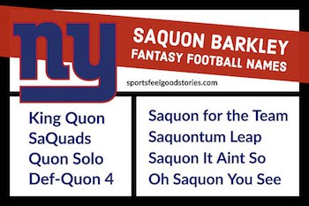 Saquon Barkley fantasy naming ideas image