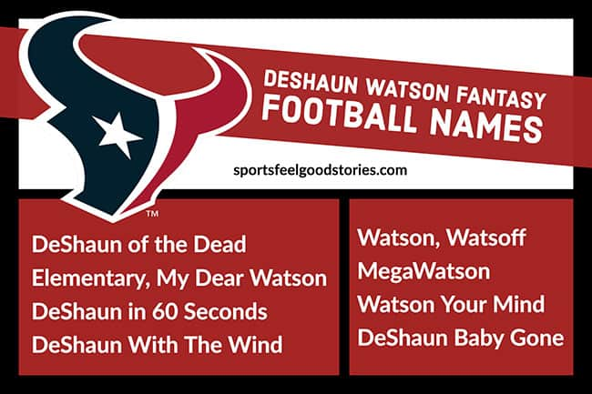 DeShaun Watson Fantasy Football names image