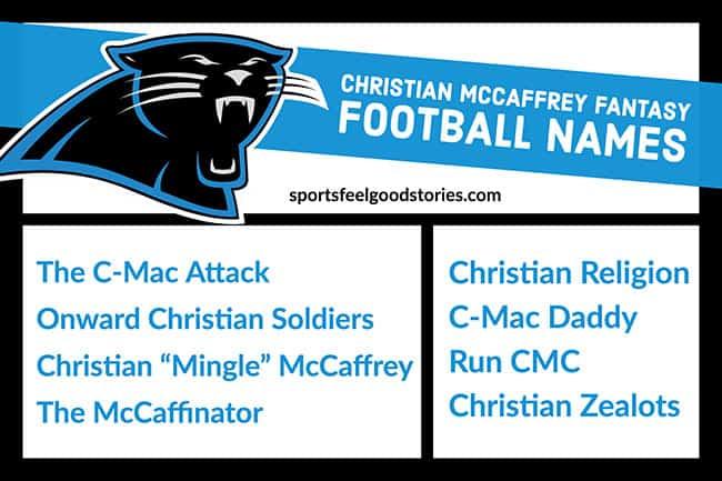 Christian McCaffrey Fantasy Football Names image