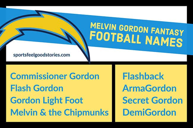 Melvin Gordon Fantasy Football team names image