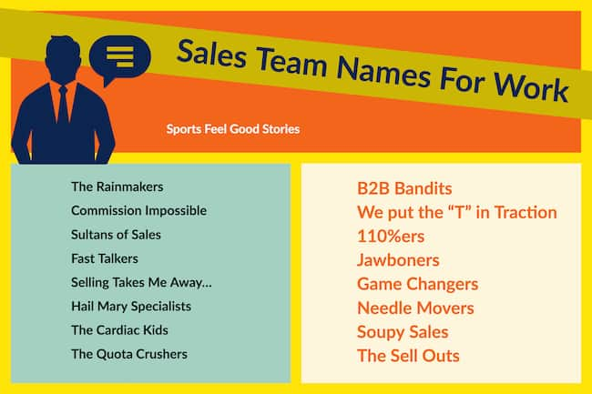 sales team name ideas image