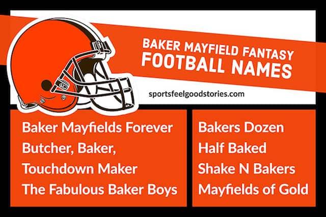 Fantasy football team names for Baker Mayfield image