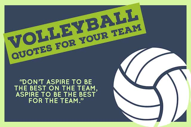 Volleyball Team Quotations image