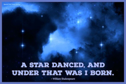 Shakespear Quote on a star danced image