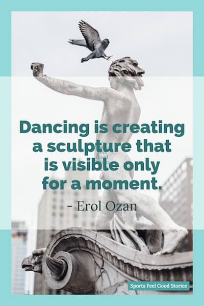 Dancing is creating a sculpture image