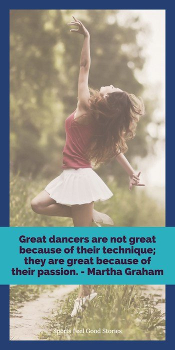 Martha Graham quote on dancing image