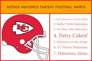 Mahomes Fantasy Football names image