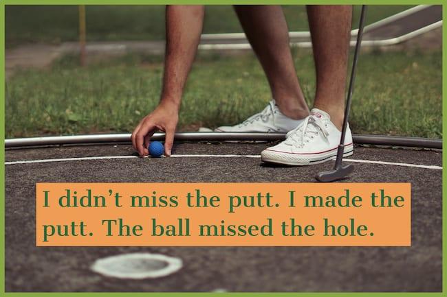 miniature golf meme