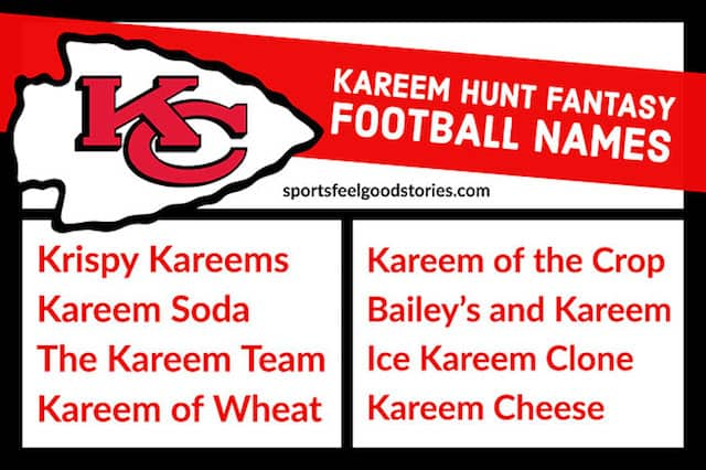 Kareem Hunt Fantasy Football Team Names image