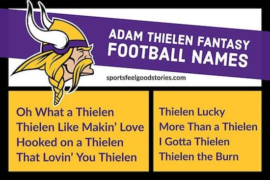 Adam Thielen Fantasy Football Names