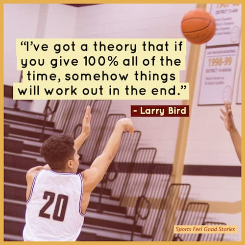 Larry Bird quote on giving 100% image