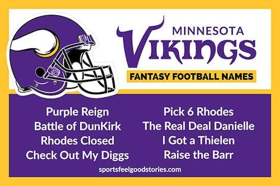 Minnesota Vikings Fantasy Football Team Names image