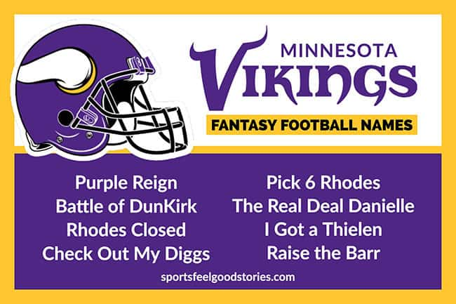 Minnesota Vikings Fantasy Football Team Names | Sports Feel Good