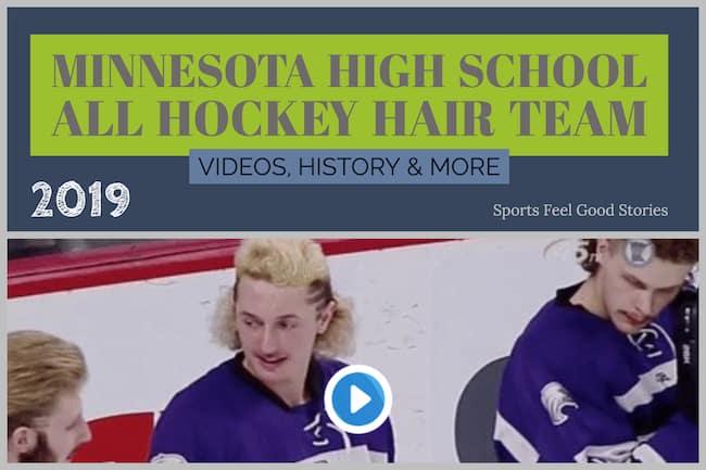 2019 Minnesota State High School All Hockey Hair Team image
