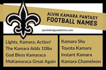 Alvin Kamara Fantasy football names button image