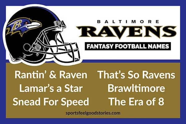 Baltimore Ravens Fantasy Football Names image