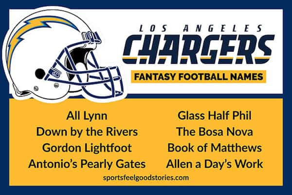 Chargers Fantasy Football names image