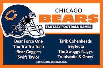 Chicago Bears fantasy football names link button