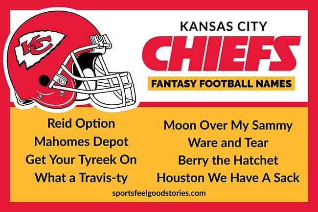 Kansas City Chiefs Fantasy Football Team Names | Sports Feel