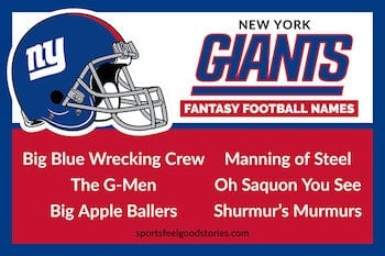 Giants fantasy football names button image