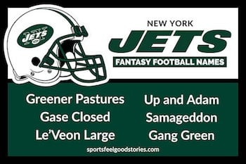 Jets fantasy football names button image