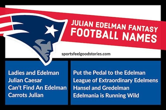 Julian Edelman Fantasy Football Team Names image