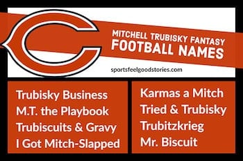 Mitchell Trubisky fantasy football names image