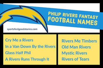 Philip Rivers fantasy football team names button
