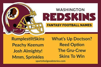 Redskins fantasy football names button image