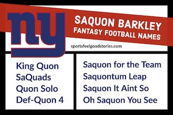 Saquon Barkley fantasy names button