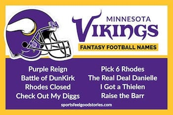 Vikings Fantasy Football names button image