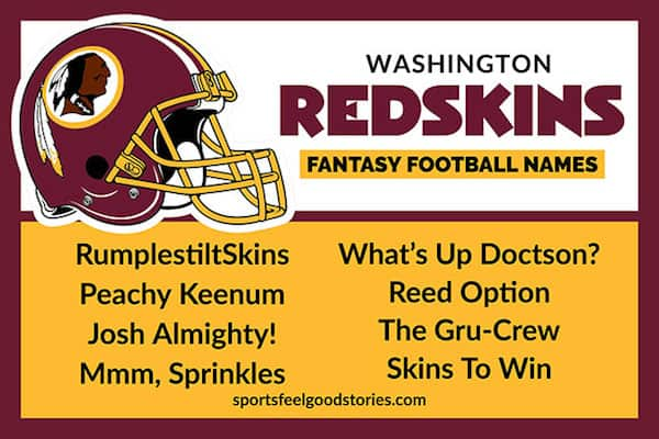 Washington Redskins Fantasy Football Names