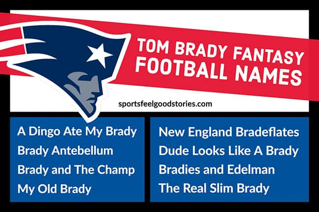 Tom Brady Fantasy Football Names image