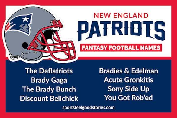 New England Patriots Fantasy Football Team Names image