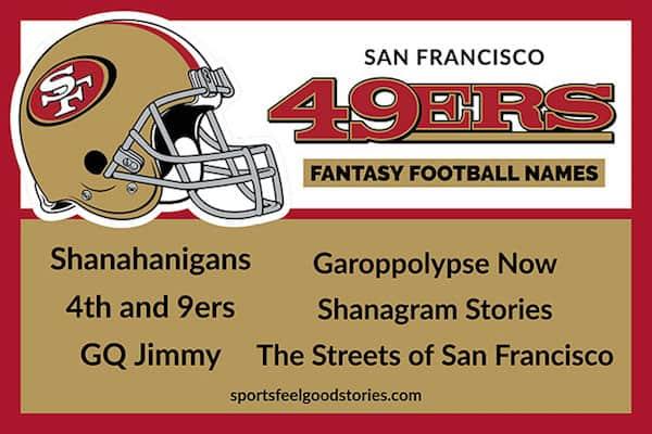 49ers Fantasy Football Names image