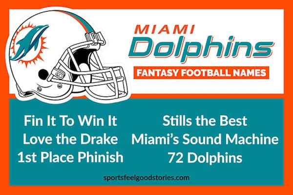 Best Miami Dolphins Fantasy Football names image