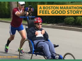 Boston Marathon feel good story - Jacob Russell and Patrick Dewey image