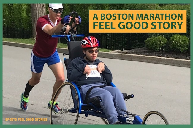 Boston Marathon feel good story - Jacob Russell and Patrick Dewey image