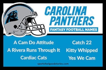 Carolina Panthers Fantasy Football Team Names button
