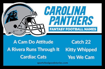 Carolina Panthers Fantasy Football Team Names button