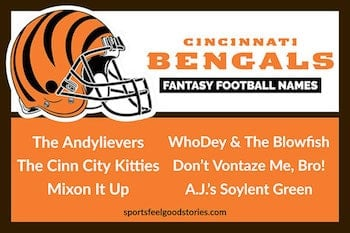 Cincinnati Bengals Fantasy Football names button