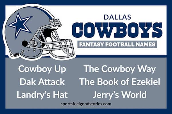 Cowboys fantasy football names image