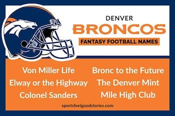 Denver Broncos fantasy football team names button